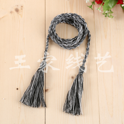 Manufacturer direct sales, black and white padded cotton tassel accessories decorative accessories