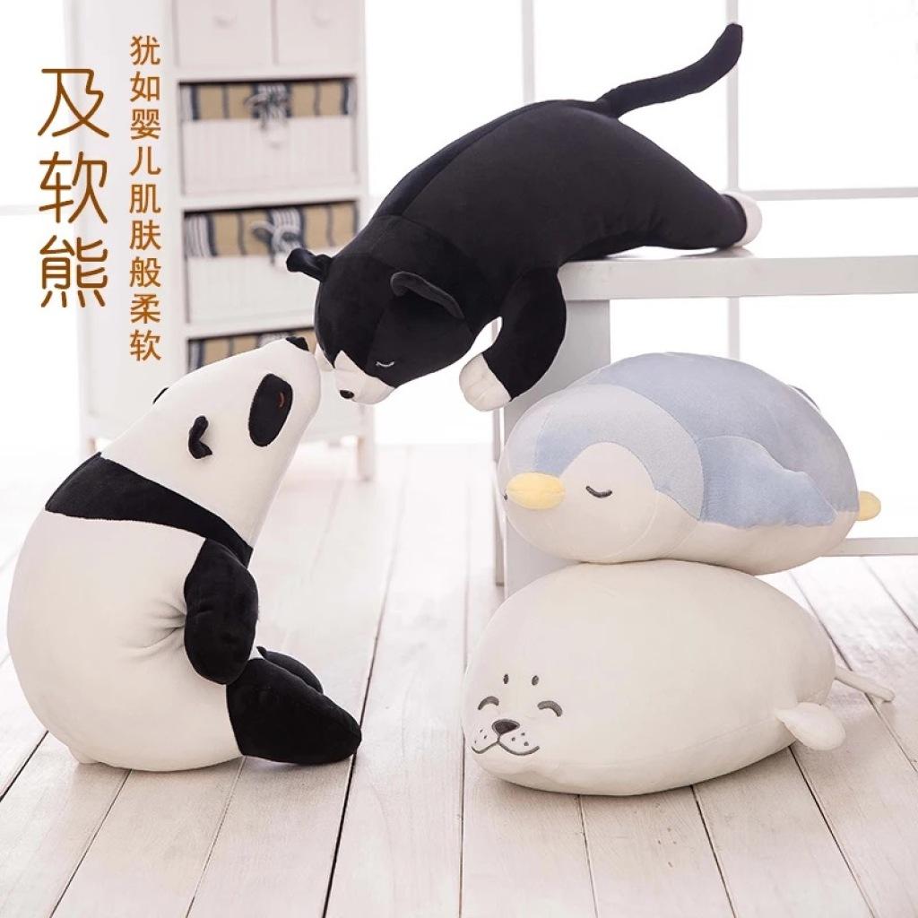 Supply Soft feather cotton polar bear panda Penguin seal plush toy