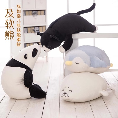 Soft feather cotton polar bear panda Penguin seal plush toy dolls to sleep