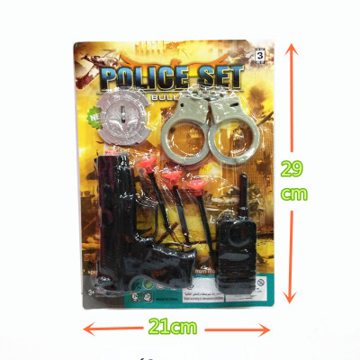 Maternal and infant toy specially approved board installed children's educational plastic police toy set