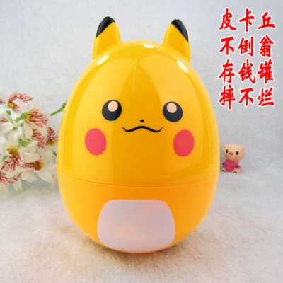 Children's tumbler piggy bank Pikachu plastic piggy bank