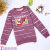 2018 new wholesale children's clothing winter style clothing printed horizontal children long sleeve t-shirts.
