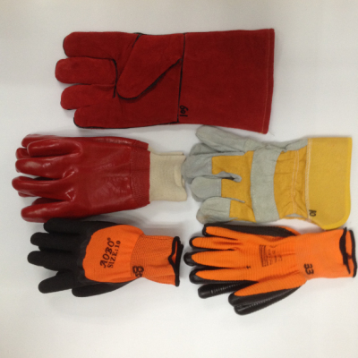 Labor protection gloves rubberized dipped nitrile gloves wear non slip welding gloves