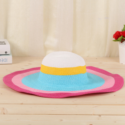 Beach sun hat on the summer beach of summer beach holiday straw hat han version.