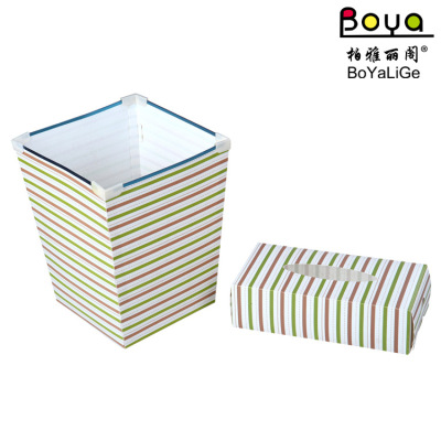 PP folded box Gang trash plastic dustbin trash bins edge printing