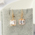 Europe and the United States explosion personality square hypoallergenic earrings wholesale Zircon Earrings