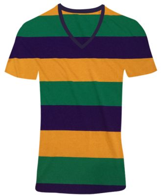Manufacturers wholesale Custom Festival Clothing Terylene Cotton horizontal stripe V-neck T-shirts