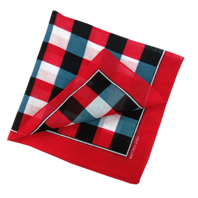 Pure cotton 55cm scarf outdoor multi-functional customized kerchief check pattern headband