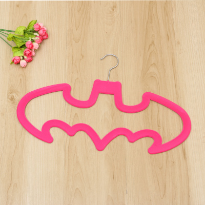 Bat Design flocking hanger anti-skid durable hanger magic hanger