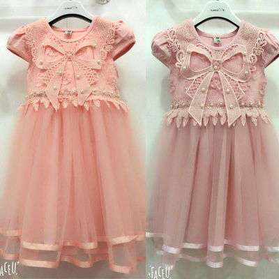 Girls dress Shaqun summer 2018 female virgin baby infant small short sleeved dress