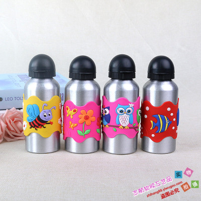 Soft PVC tape hook stainless steel water cup creative cartoon soft plastic stainless steel thermos GMBH cup is suing sports kettle