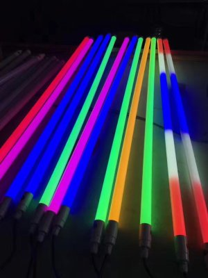 LED color fluorescent lamp outdoor waterproof T8 T5 colorful decorative lamp tube