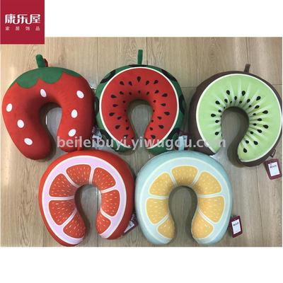 Leisure house home furnishing novelty fruit series memory cotton U neck pillow fresh U pillow daily provisions