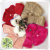 purchase sweet flower children's clothes girls take MAO qiu dong cap lapel warm fur clothing wholesale fashion belt