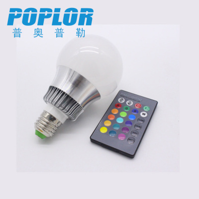 3W /RGB colorful LED bulb  / intelligent lamp /  remote control bulb / aluminum