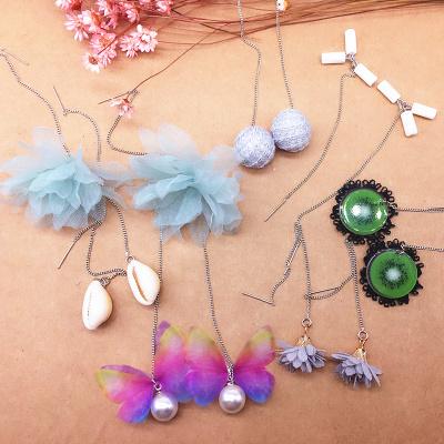 Ear line long earrings lace flowers Taobao supply to share the wholesale