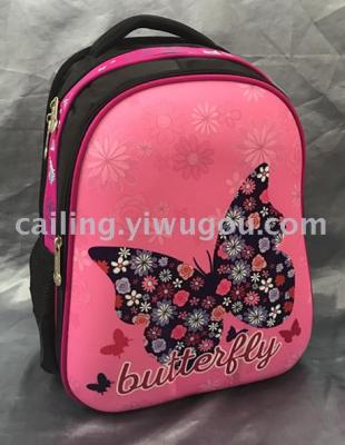 [ordered schoolbag expert] exported to Russia, Europe and America schoolbag butterfly girl schoolbag