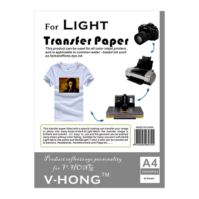 Light-color thermal sublimation T-shirt transfer paper