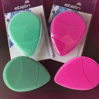 New product Germany ebelin hand massage soft silicone face brush soft brush to clean black head thoroughly.