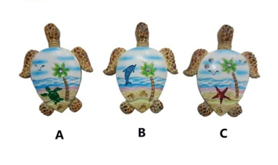 Point drill coconut sea turtle, seaside tourist souvenirs, decorative arts.