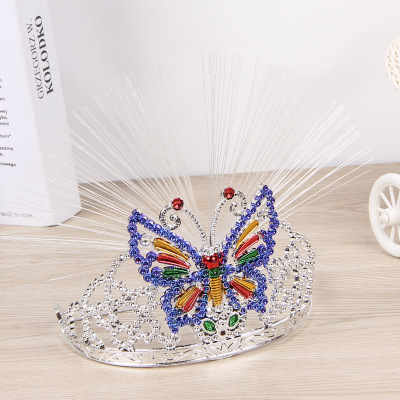 LED luminous Crown birthday party birthday party toy color flashing fiber optic glowing Crown tiara