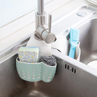 Wheat Sinks Plastic Bags Hanging Storage Basket Sponge The Kitchen Sink Drain Rack