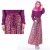 Ladies ladies chiffon long sleeve dress with silk Muslim women Arab robes robe