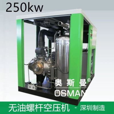 Hongwuhuan 350hp oil free screw air compressor