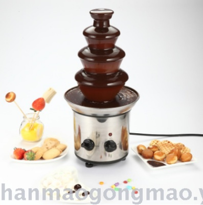 Chocolate fire boiler buffet 3 layers 4 layer chocolate melt fountain machine