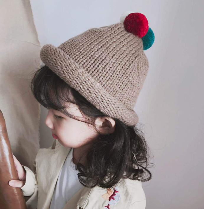 e17603c7b26 Supply Winter new style children  s wool cap girls and boys  hair ...