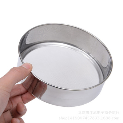 Manufacturer direct selling high quality stainless steel flour sieve 60 eye baking tools -15cm kitchen small tool