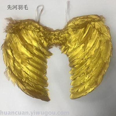 Factory direct sale feather angel wings painted feather angel wings