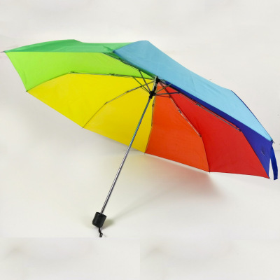 creative folding rainbow umbrella-colored mini super light umbrellas  printing LOGO.