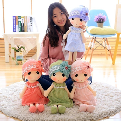 Factory Direct Sale Colorful Cuddly Plush Clothing Doll For Girls In Stock