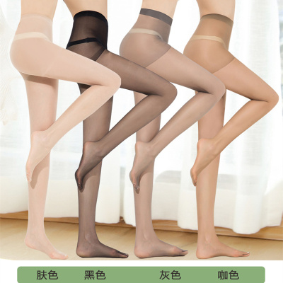20D cored wire anti off silk stockings transparent silk pantyhose