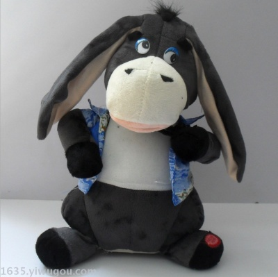 The supply of electric plush toy donkey donkey foreign trade new racket ear singing and dancing the ear donkey.