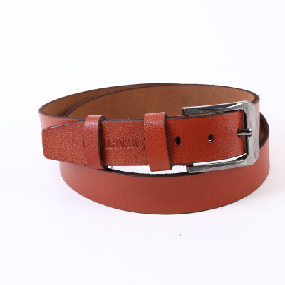 Men's leather belt leather needle buckle youth belt men's head layer of pure cowhide belt leisure tide lengthened