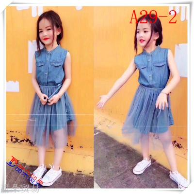 Yiwu purchase the child 2018 short sleeved lace gauze skirt dress Tutu Children Summer Princess Dress