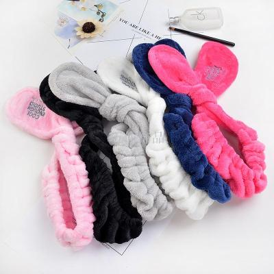 Hot style fluffy letter hair with cute rabbit ears wide side washing hair band hair band.