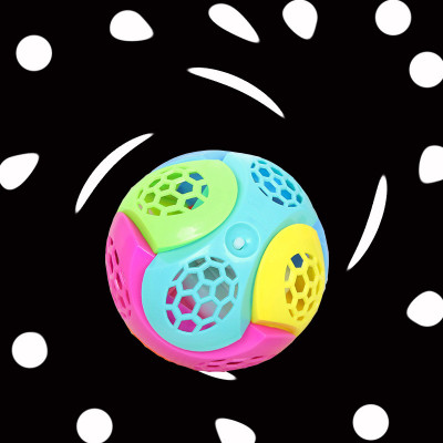 New creative children's puzzle flash music dance ball DIY jigsaw puzzle ball with string ball.