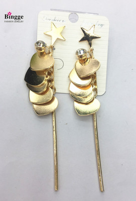 Metal and iron peaches gold plated earrings with earrings.