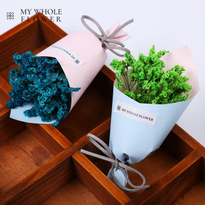 Crystal grass and dried flower mini bouquet 2 bundle combination suit mother's day 520 gift south Korean instagram set.