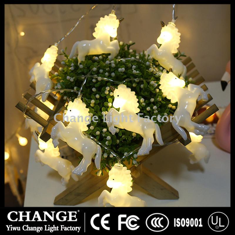 New Unicorn Light Battery Led Lights Christmas Holiday Decoration Lamp