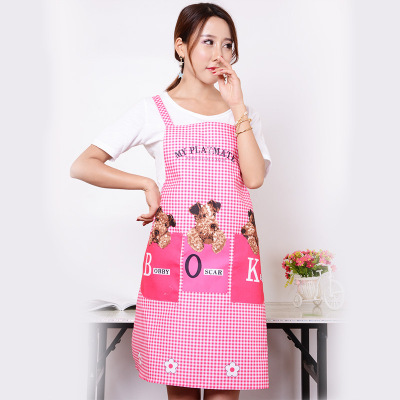Fashion Korean version with sleeveless, sleeveless home, peach skin velvet waterproof adult kitchen.
