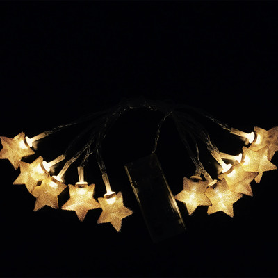Led Lights Iron And Gold Star Flashing Christmas Outdoor Festival Wedding Bar Decoration Small