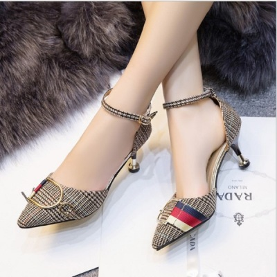 New style single women's shoes spring and summer, European and American fashion socialite high heels, thin heel tips