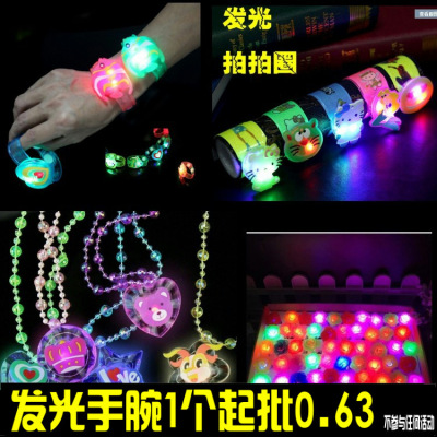 Creative Christmas glow cartoon watch flash wrist band
