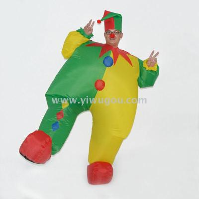 Halloween Christmas adult inflatable clown costume school company activity costume