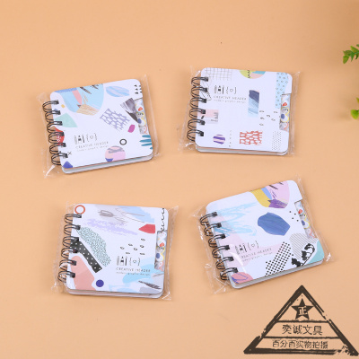 Portable lovely students creative stationery coil notepad Portable pocket notebook with various color