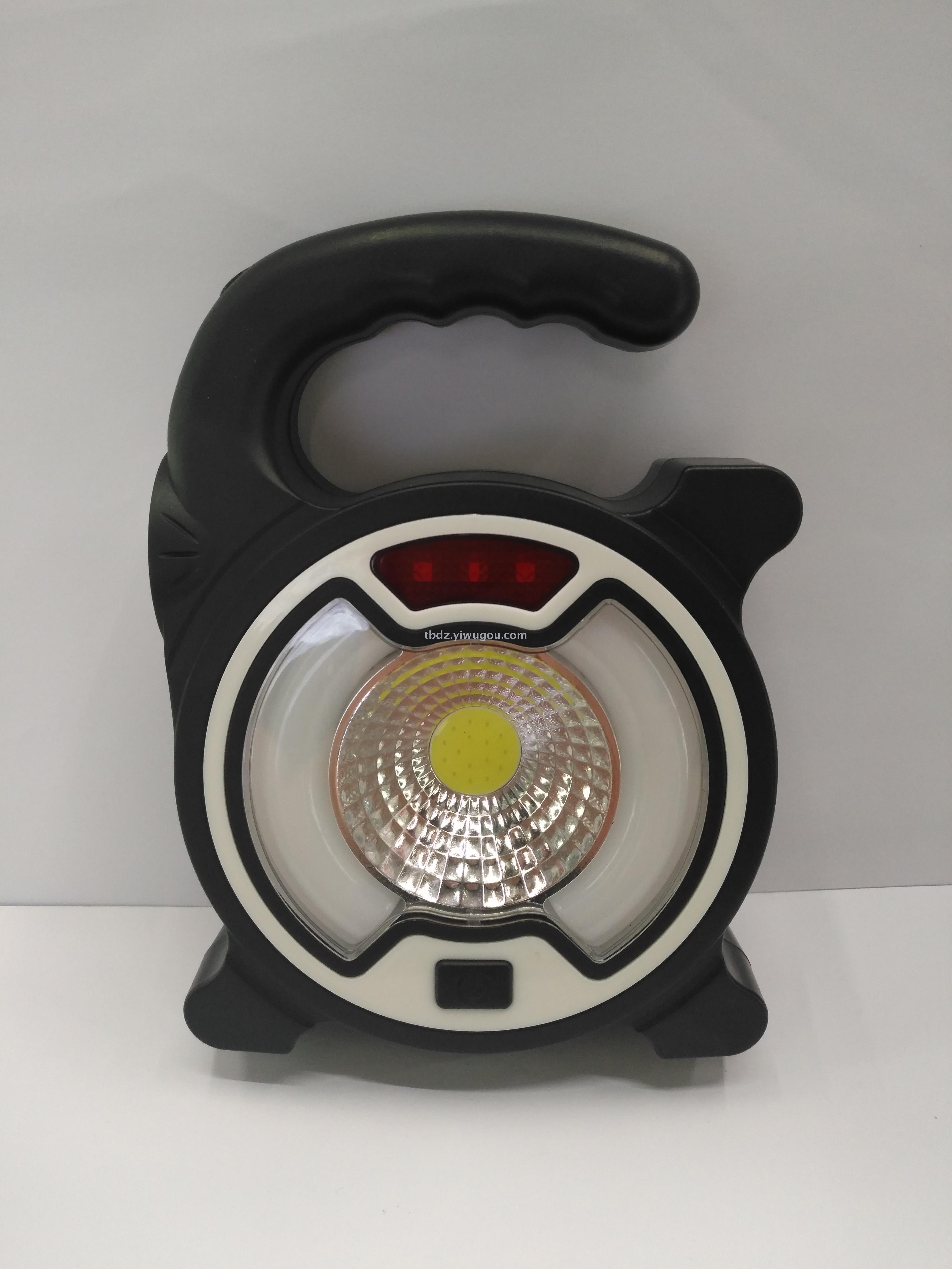The New Cob Hand Lantern Usb Solar Powered Camping Lamp Searchlight Outdoor Lighting